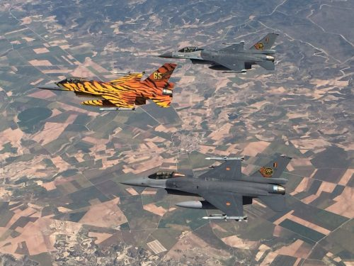 4 31 sqn F-16AMs over Spain during Nato Tigermeet 2016